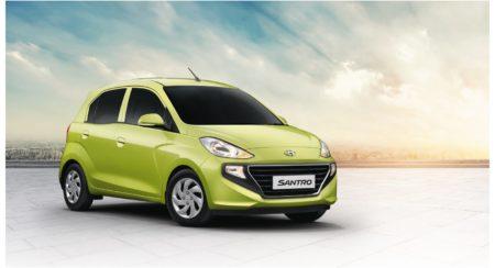 Hyundai All-New Santro Diana Green quarter