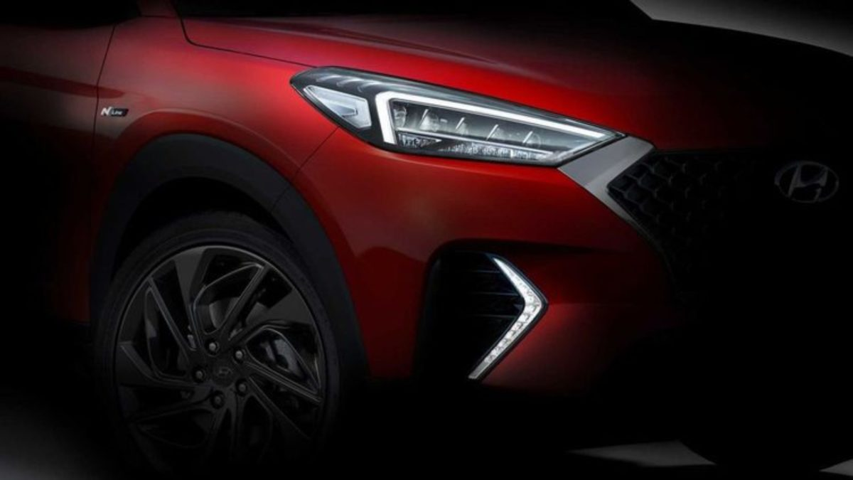 Hyundai Tucson N teaser headlight