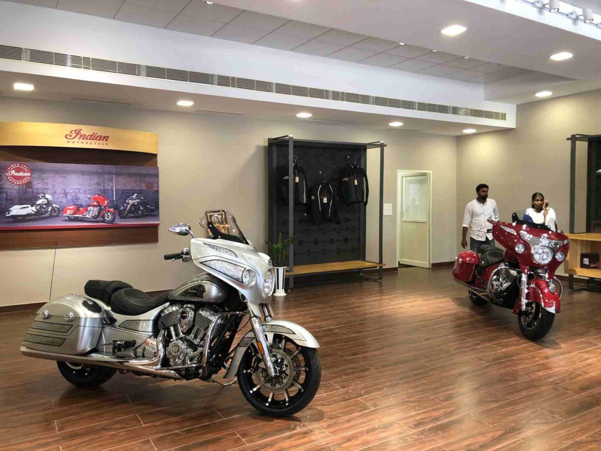 Indian Motorcycle showroom Kochi Chieftain elite and chieftain
