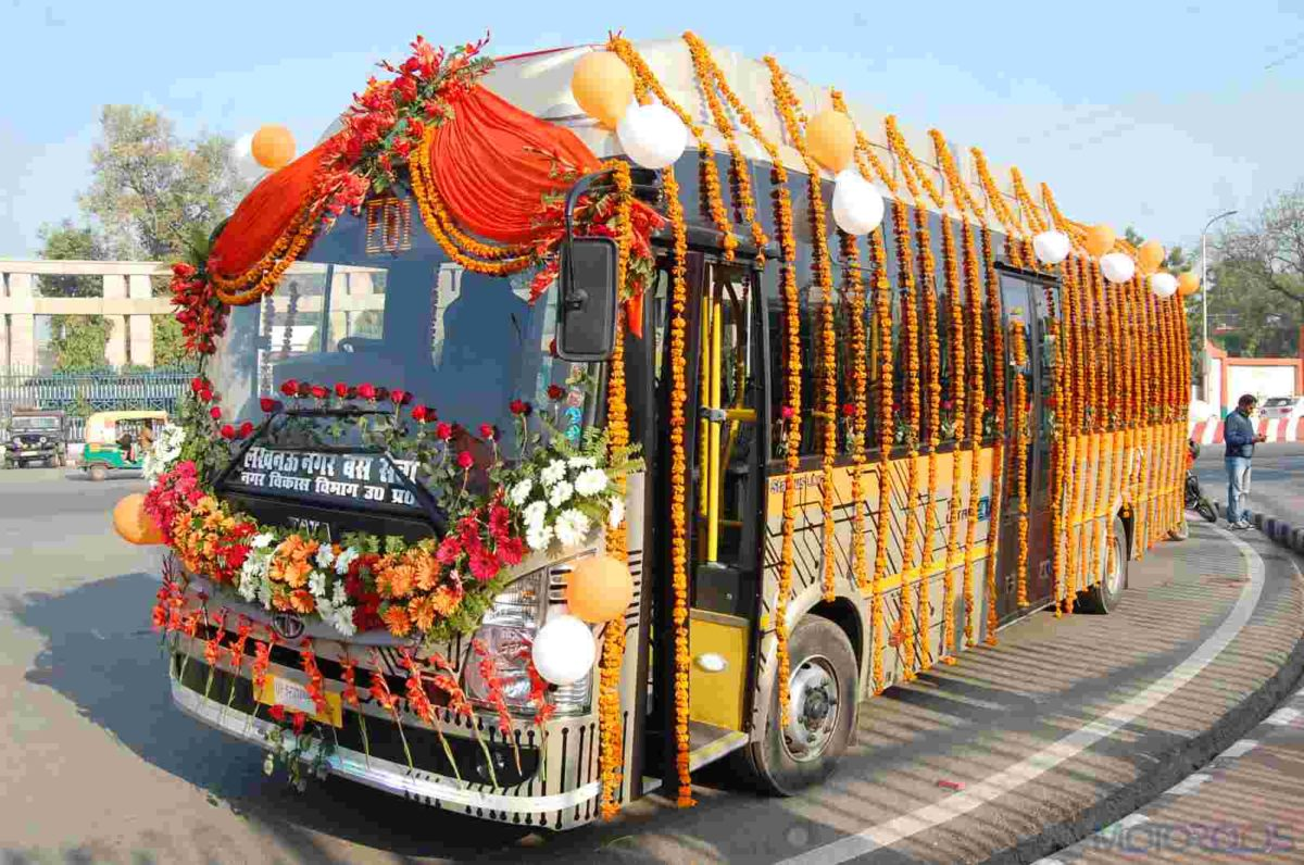India's First Electric Bus by Tata Motors Flagged Off from Lucknow