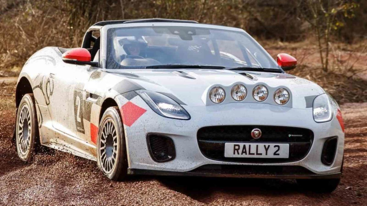 Jaguar F Type rally front quarter