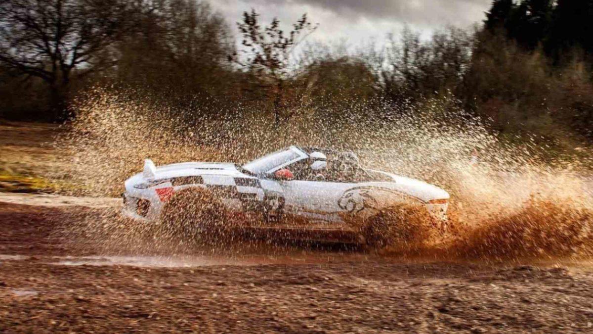 Jaguar F Type rally side