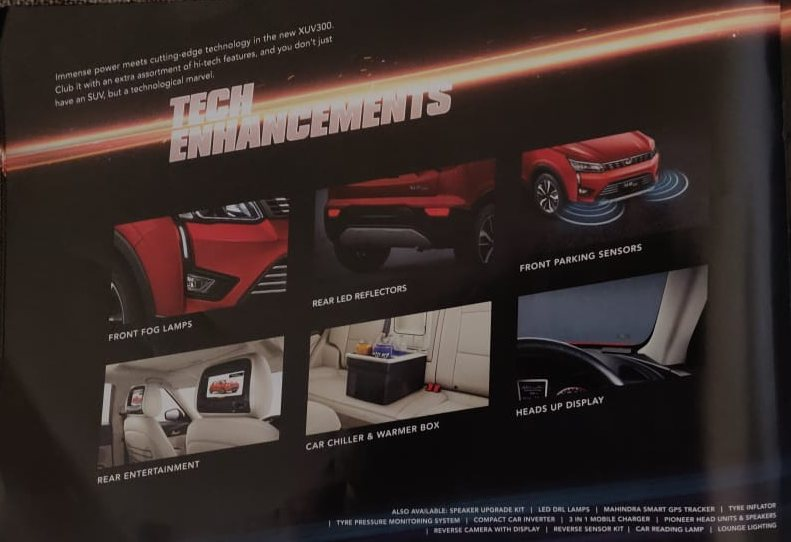 Mahindra XUV300 Accessories tech enhancements
