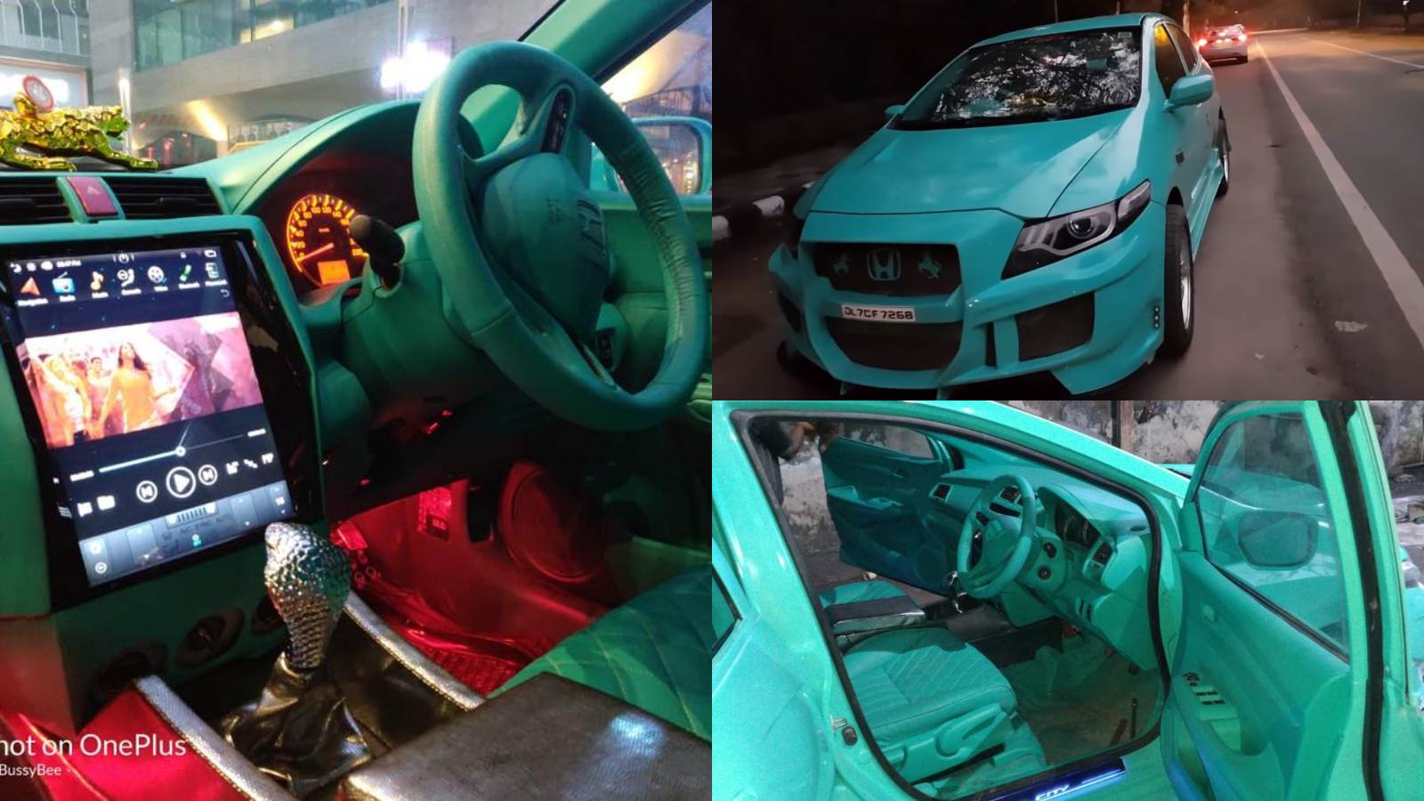 This Modified Honda City Is All About Its Teal And Its Cobra Motoroids