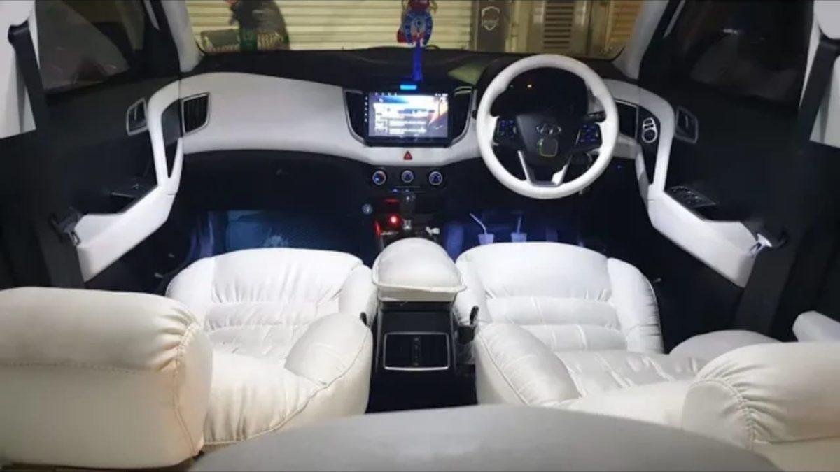 Modified Hyundai Creta base variant interior