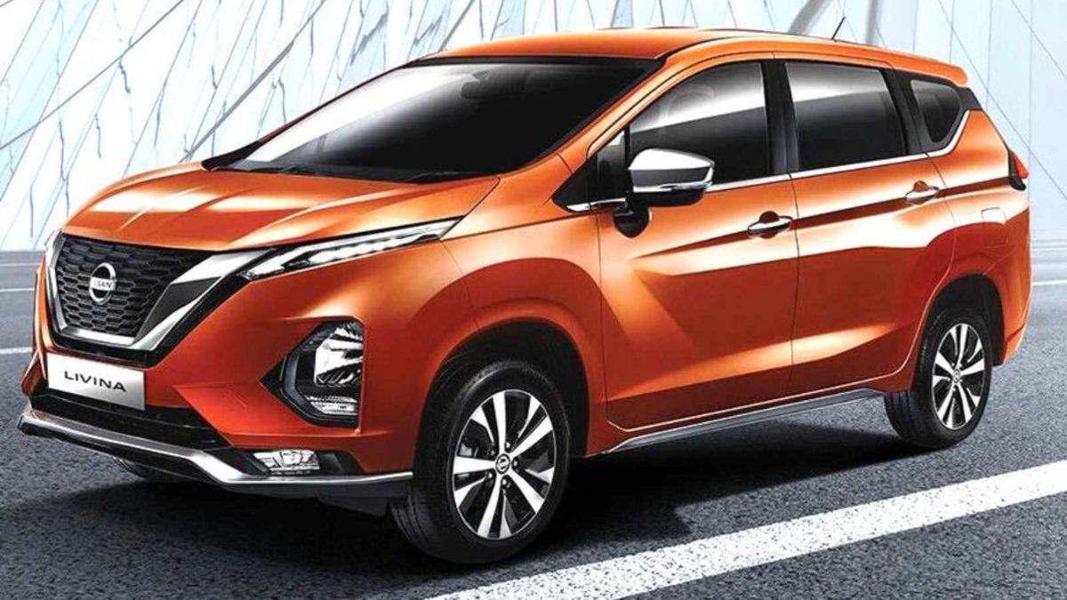 Nissan Livina unveiled front three quarters orange