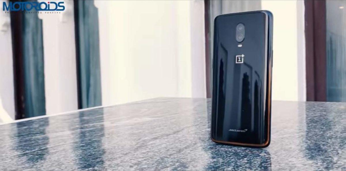 OnePlus 6T standing