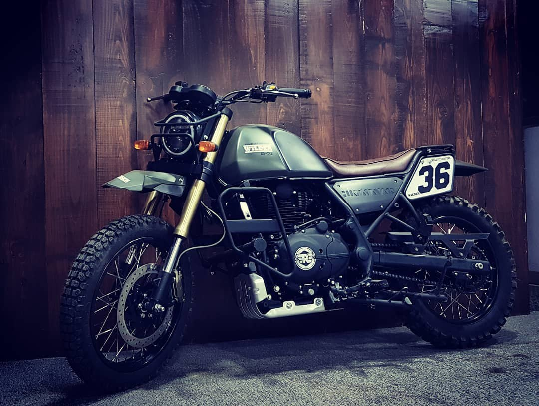 Royal Enfield Himalayan Wilder By Bulleteer Customs Side and front profile left