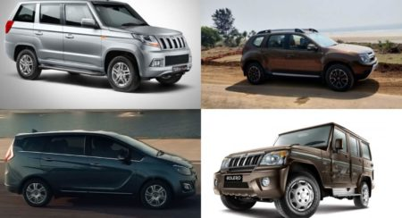 Spacious SUVs and Crossovers collage