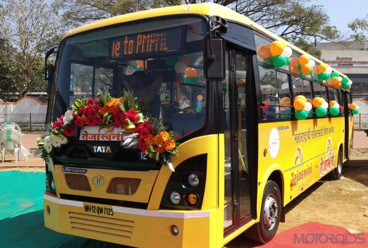 Tata Motors delivers six women friendly '9m Ultra Midi Buses' with Automatic transmission to PMPML today (3)