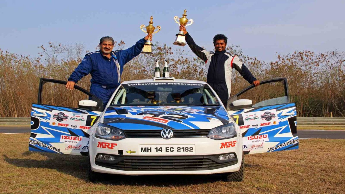 Vicky Chandhok and Chandramouli with trophies after INRC 2018 Chennai Ro… (1)
