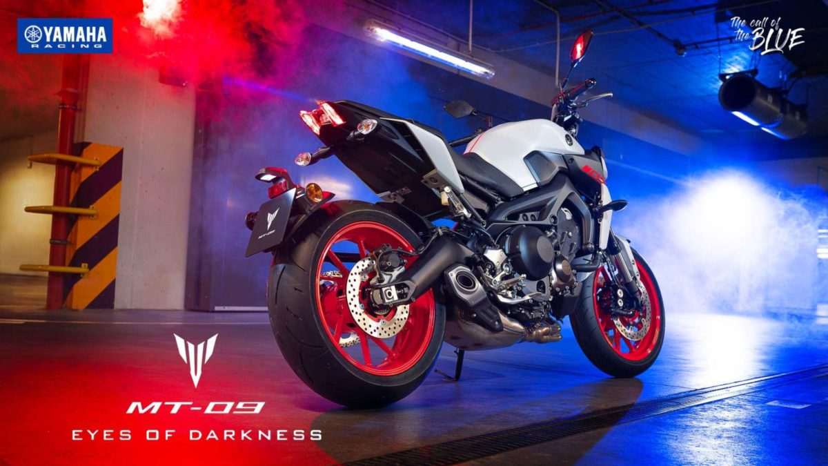 Yamaha MT09 launched rear low