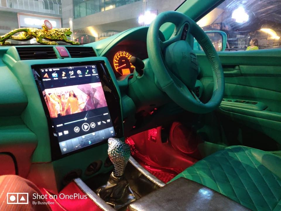 modified honda city cockpit