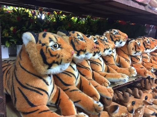 stuffed toy tiger
