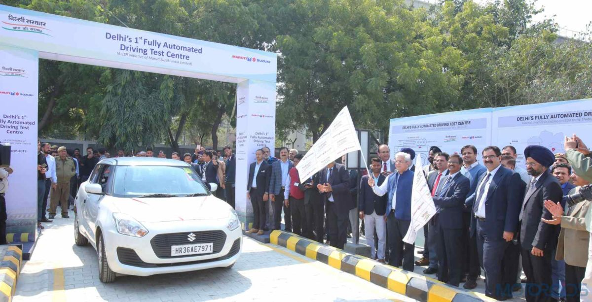 Automated driving test centre in delhi