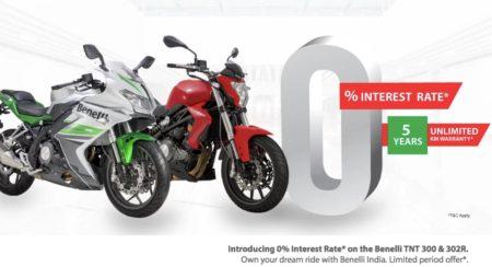Benelli TNT300 & 302R at zero interest