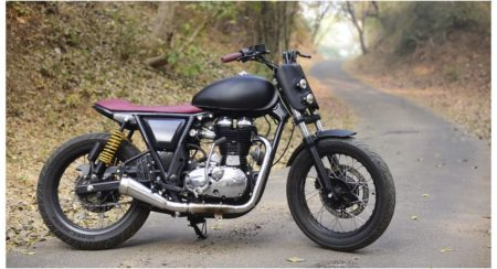 Check out This Royal Enfield GT Tracker Based on The Continental GT 535