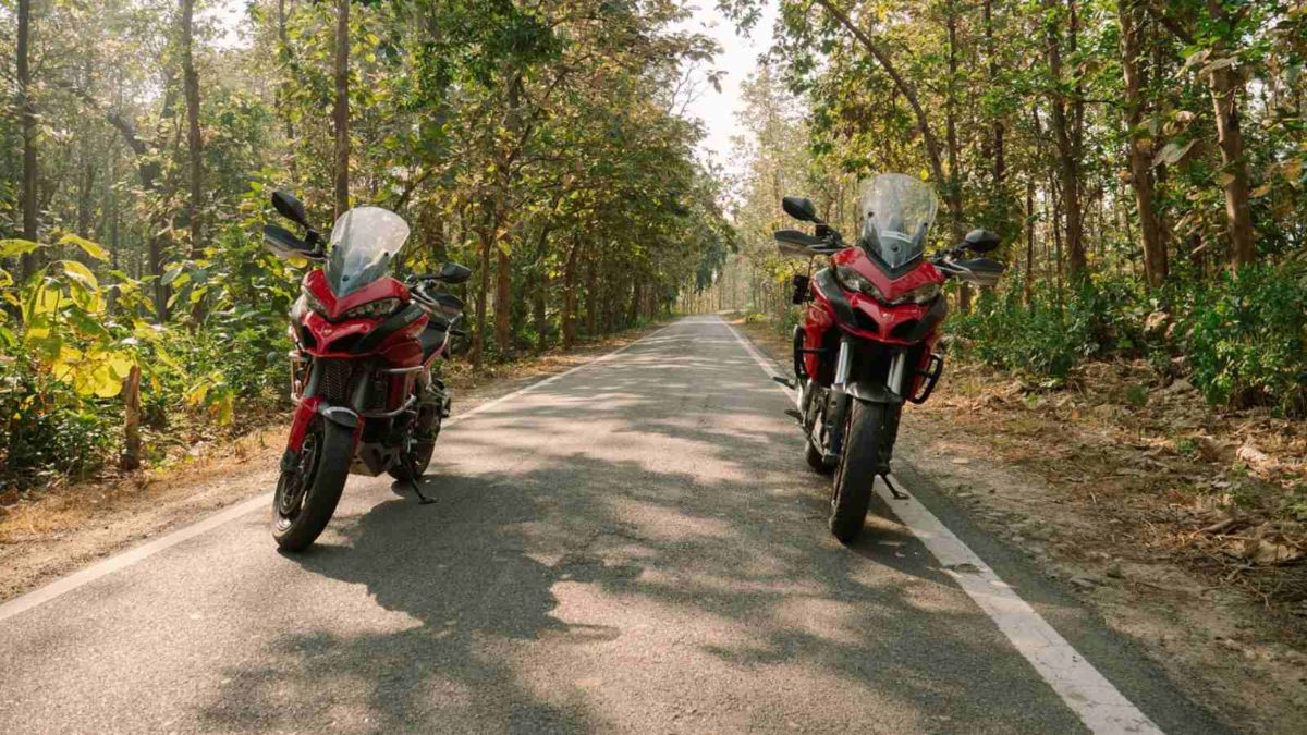 Ducati DIY discoveries India empty road and bikes