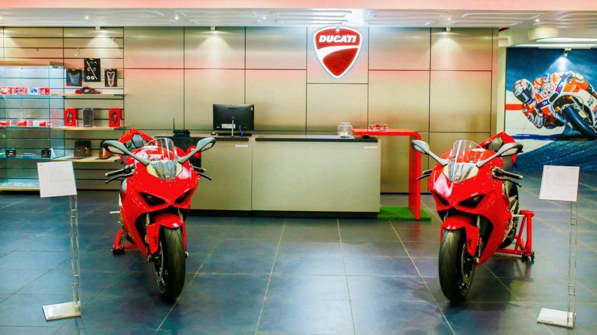 Ducati Dealership in Hyderabad reception