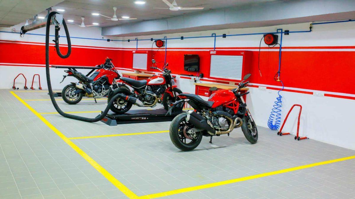 Ducati Dealership in Hyderabad service bay