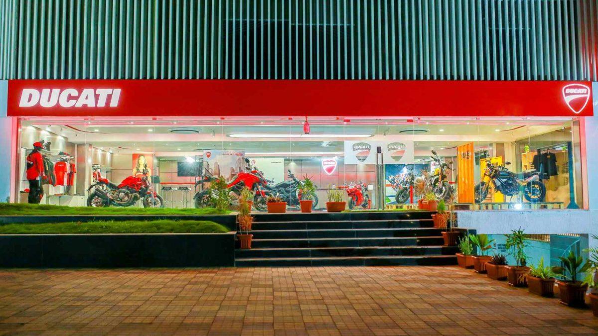 Ducati Dealership in Hyderabad shop entrance