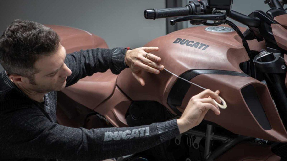 Ducati Diavel 1260 designing stage