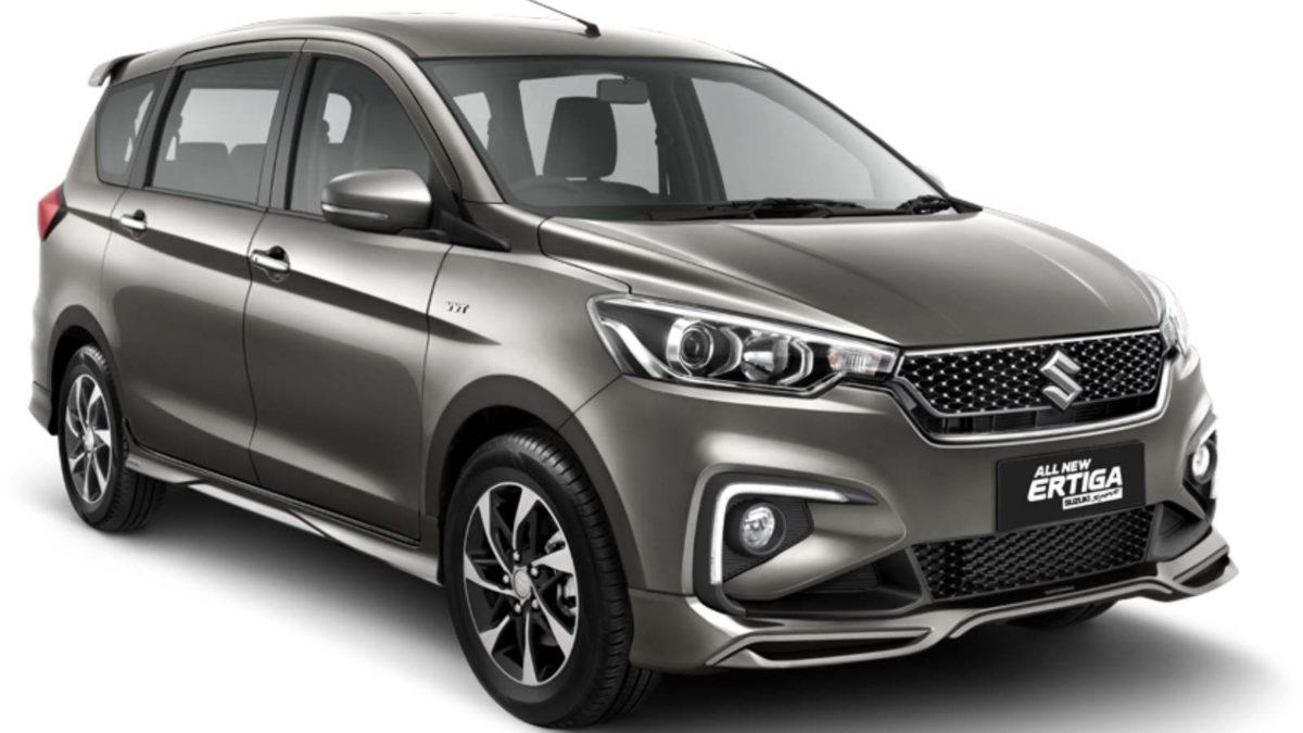 Ertiga Suzuki Sport gray front quarter
