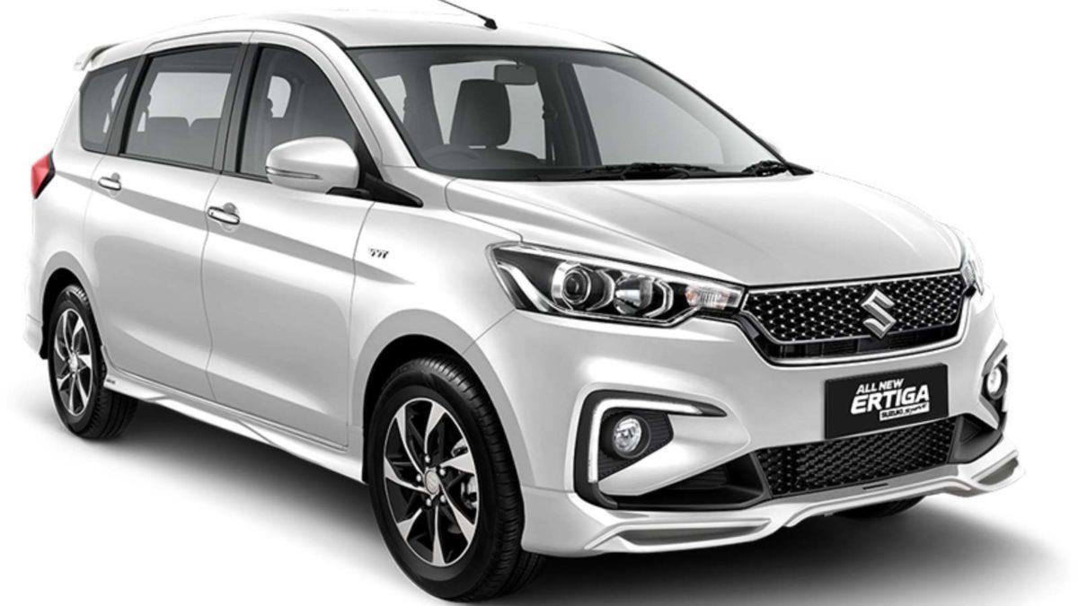 Ertiga Suzuki Sport white front quarter