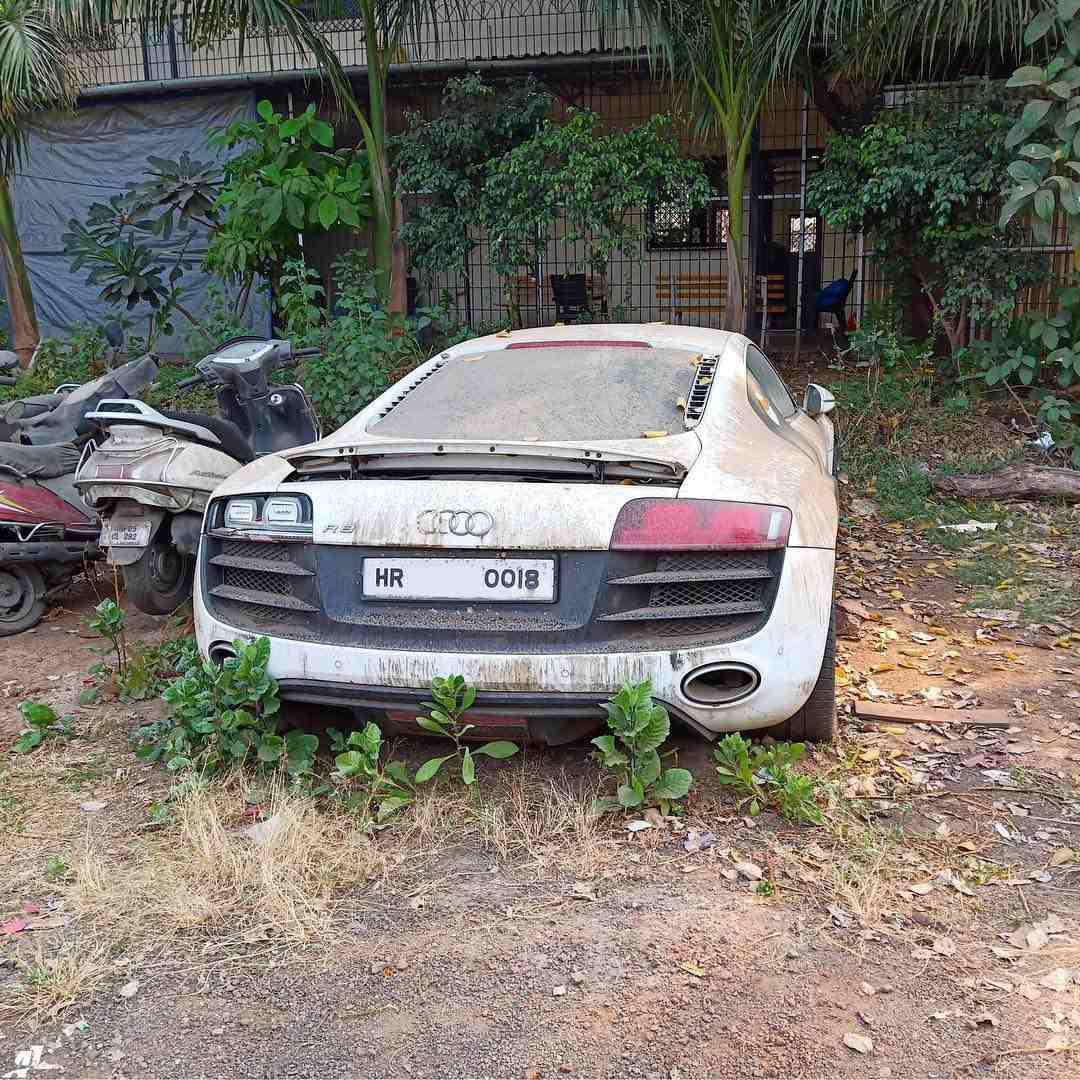 Ex virat Kohli Audi R8 V10 rear