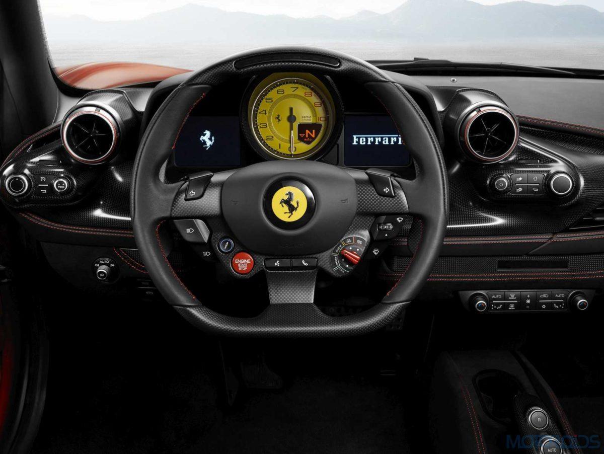 Ferrari F8 Tributo steering wheel
