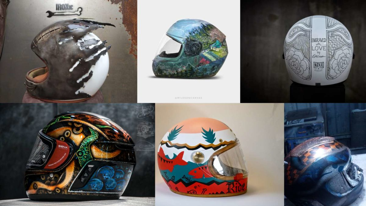 Helmet art exhibiton in Mumbai