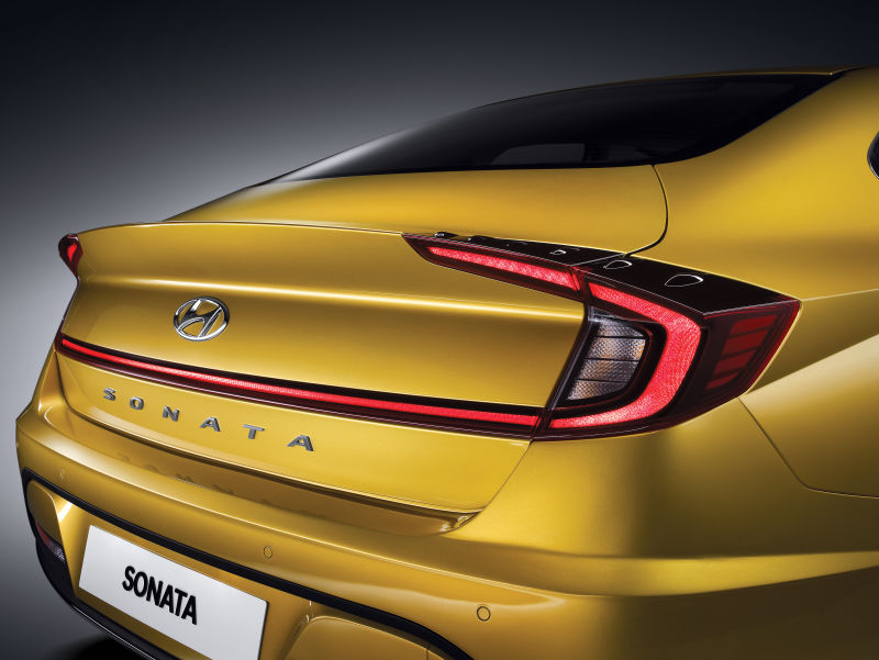 Hyundai Sonata rear yellow