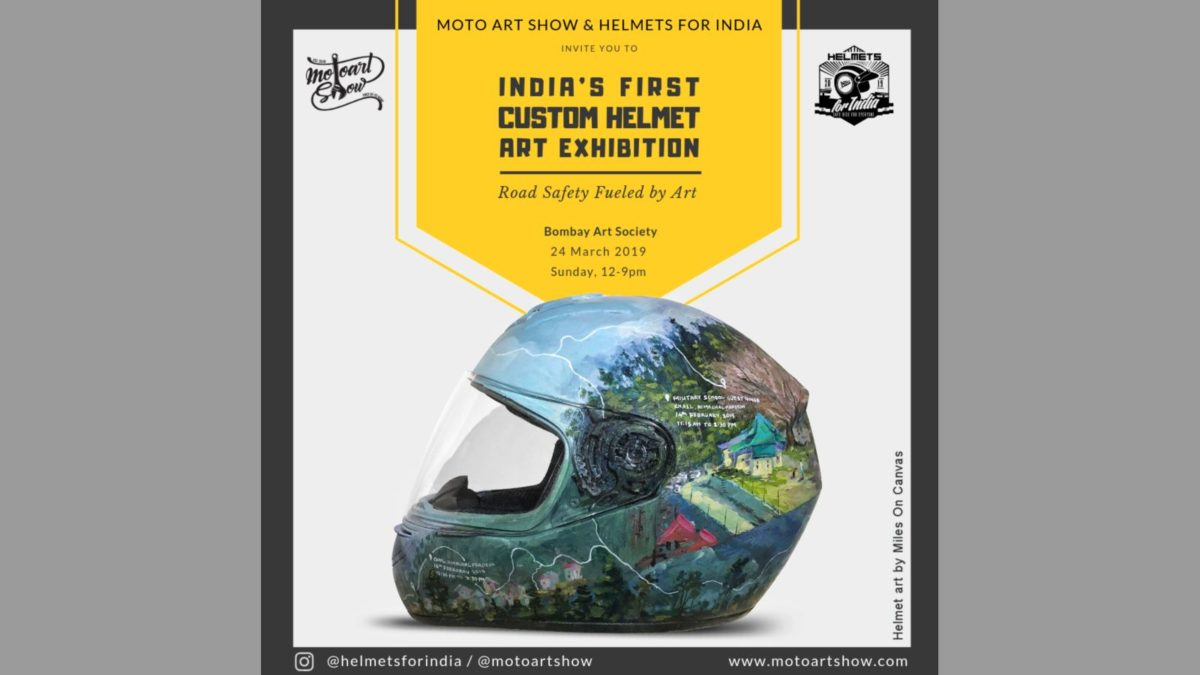 India's first custom helmet art exhibition