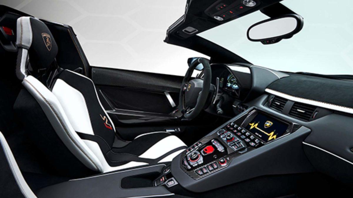 Lamborghini Aventador SVJ Roadster interior passenger