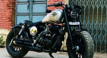 Modified Royal Enfield front quarter