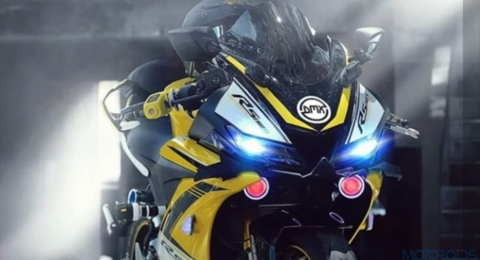 This Modified Yamaha R15 Has Been Stung By A Bee   Motoroids