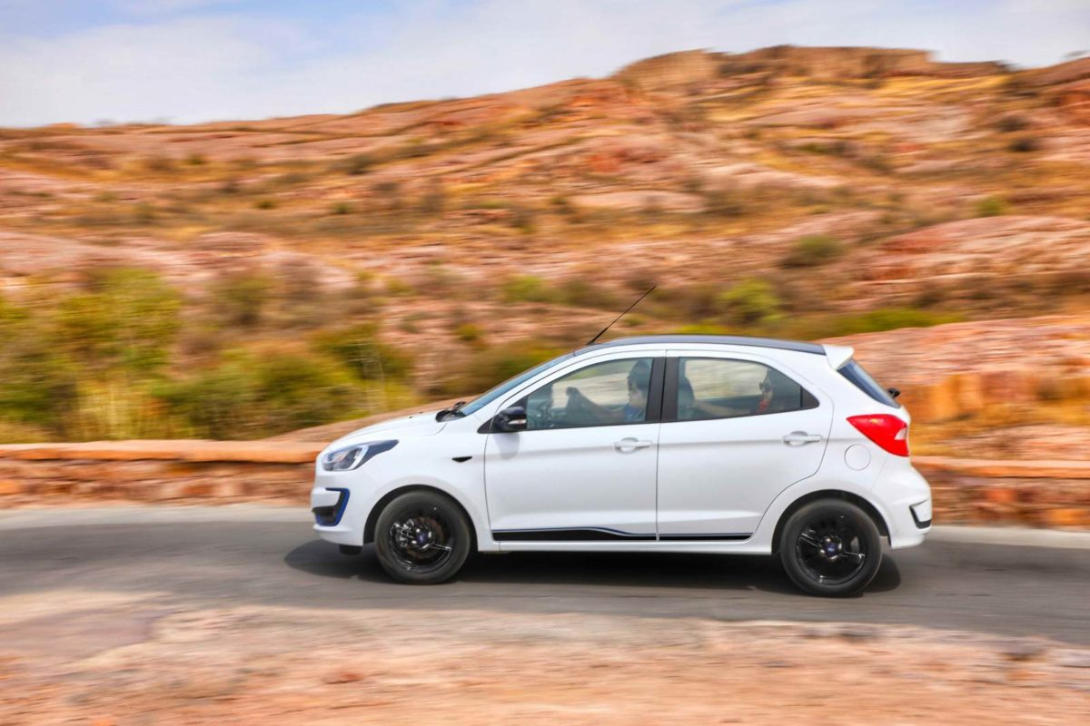 New Ford Figo action shot side profile
