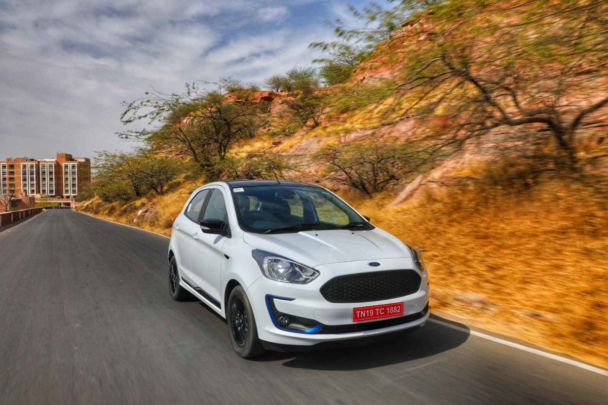 New Ford Figo in motion shot