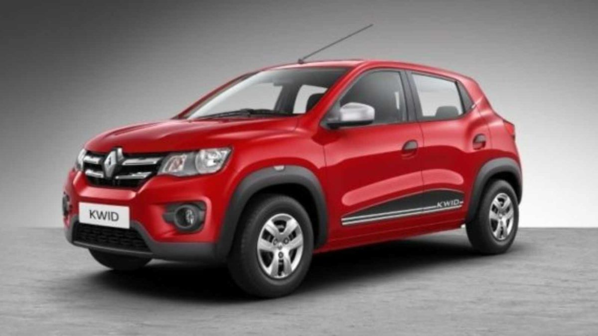 Renault Kwid front quarter red