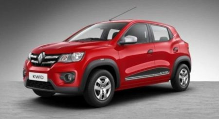 Renault Kwid front quarter red