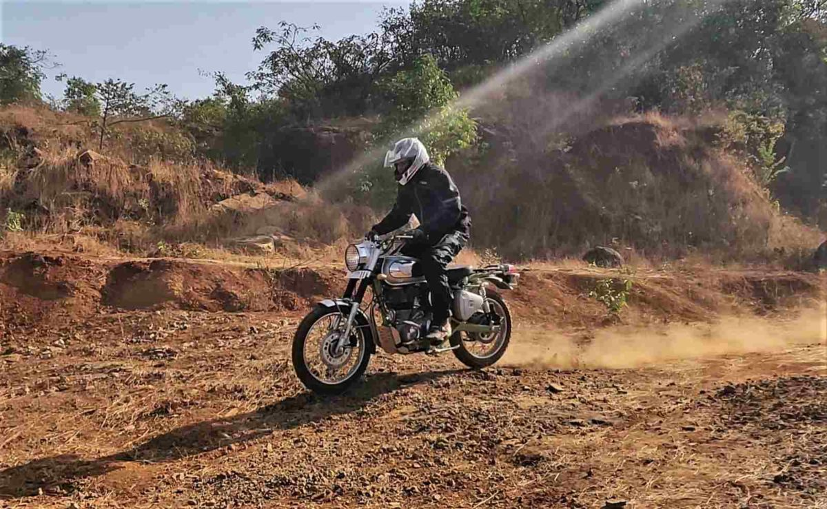 Royal Enfield Bullet Trials offroad stood up
