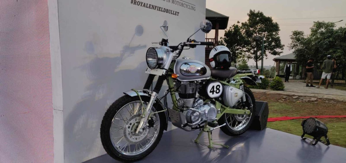 Royal Enfield Bullet Trials side profile front