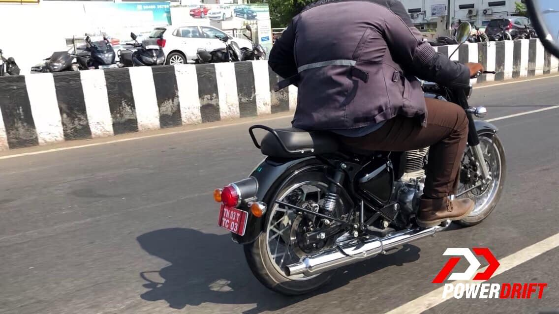 Royal Enfield Classic BS VI compliant rear quarter zoom in