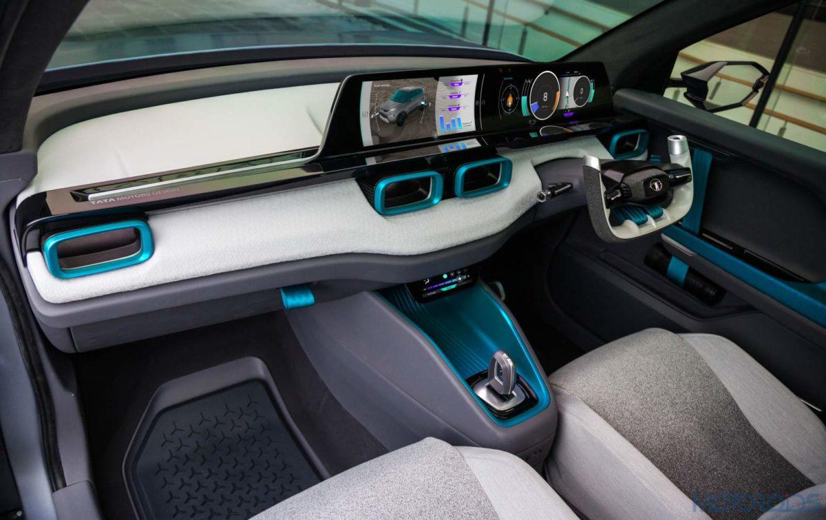 Tata H2X concept dashboard front cabin