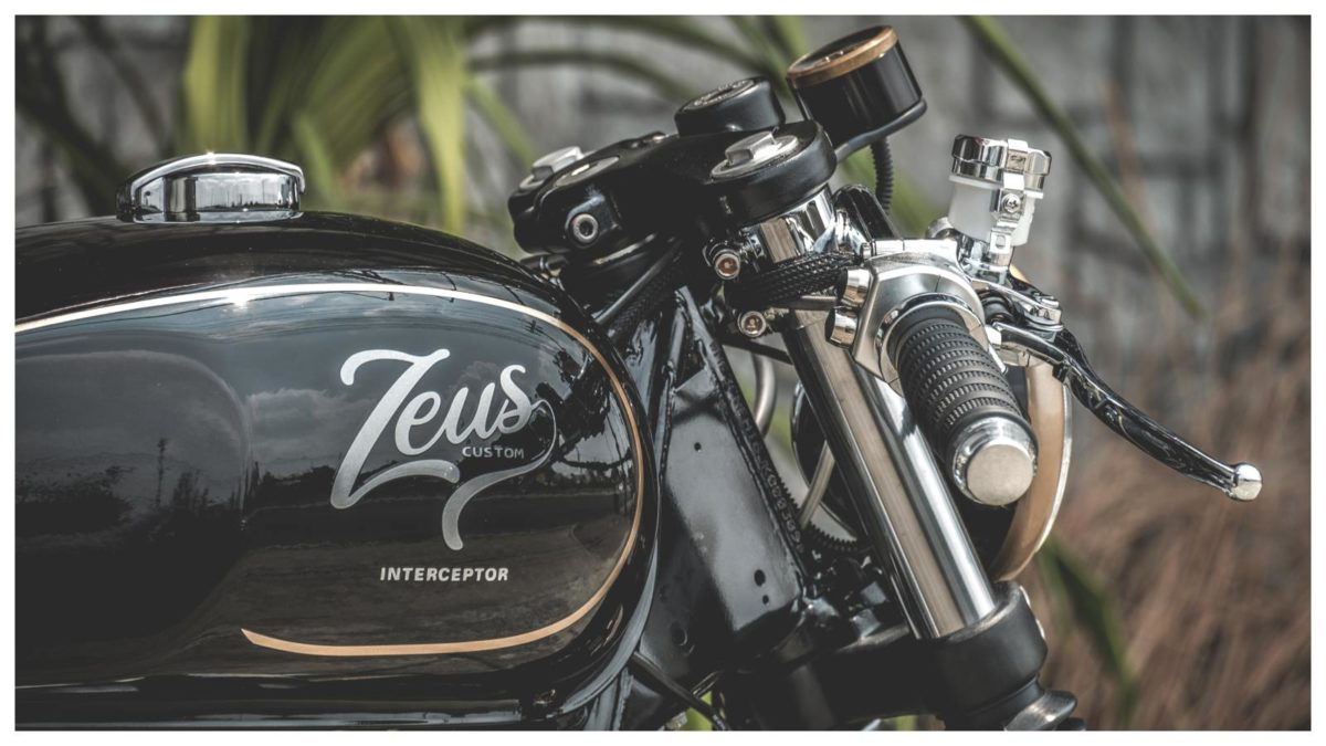 Zeus customs 650 cafe racer tank image