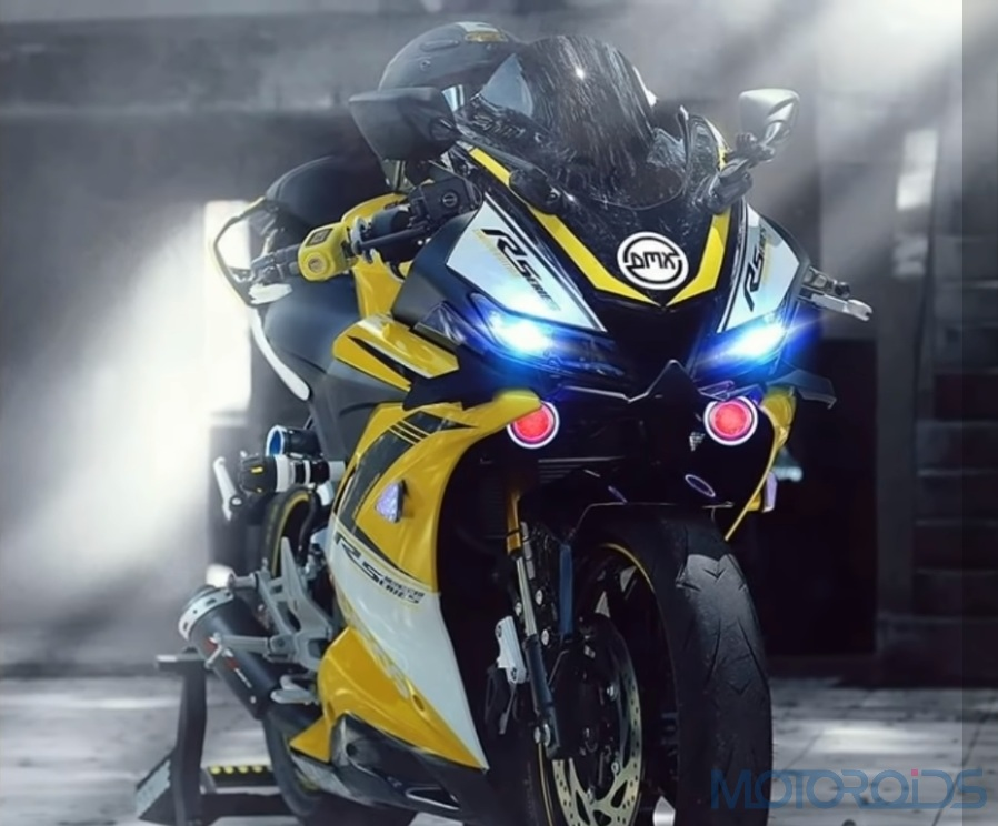 modified Yamaha R15 Yellow