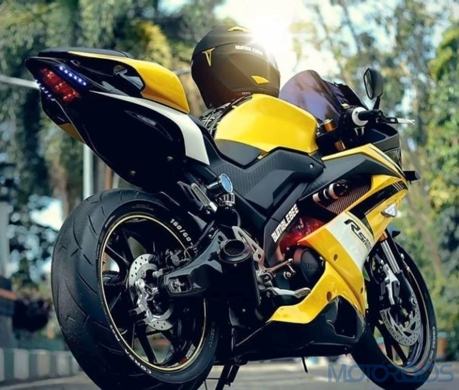 modified Yamaha R15 bumblebee