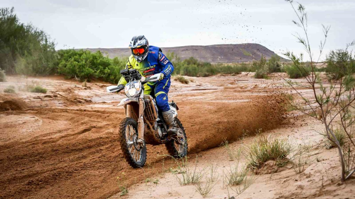 Abdul Wahid Tanveer at stage three of Merzouga Rally