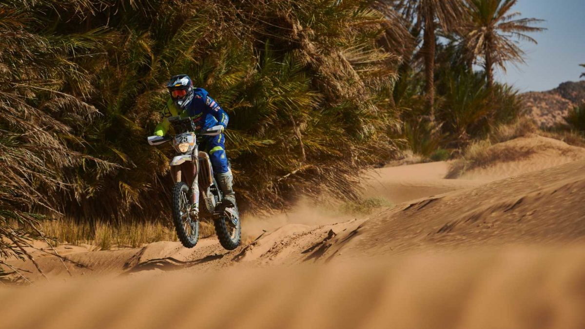 Abdul Wahid Tanveer stage 4 Merzouga rally