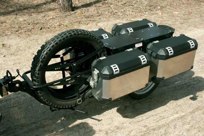 Adventure Motorcycle Trailer For luggage and spare tyres